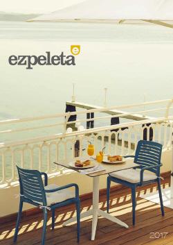 Katalog mebli do ogródków kawiarnianych i restauracyjnych Ezpeleta