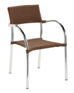 Krzesło kawiarniane Aruba X technorattan Image