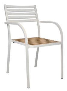 Krzesło kawiarniane Sicilia aluminiowe Image