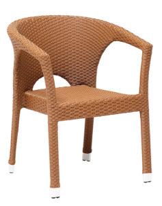 Krzesło kawiarniane Roma technorattan Image