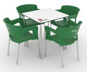Zestaw nr 2; krzesło CUP + stolik Tauro Image