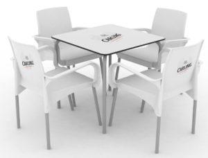 Zestaw nr 3: krzesło Ozone + stolik Rodas Image
