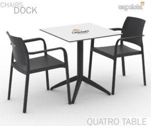 Zestaw nr 8: krzesło Dock + stolik Quatro Image