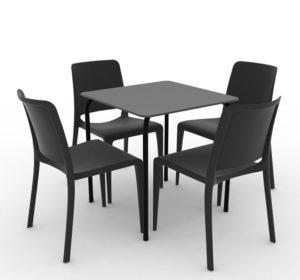 Zestaw nr 6: krzesło Hall + stolik Rodas Image
