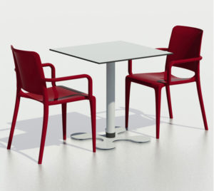 Zestaw nr 7: krzesło Hall + stolik Trebol Image